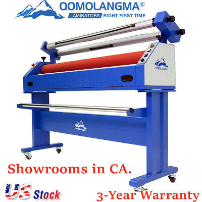 Us Stock 1600mm63 Semi Auto Large Format Cold Laminator Mounting Machine 110v