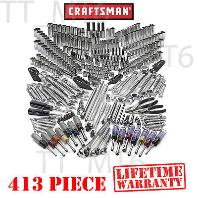 Craftsman 413 pc Mechanics Pro Tool Set SAE METRIC Wrench Professional #311 500