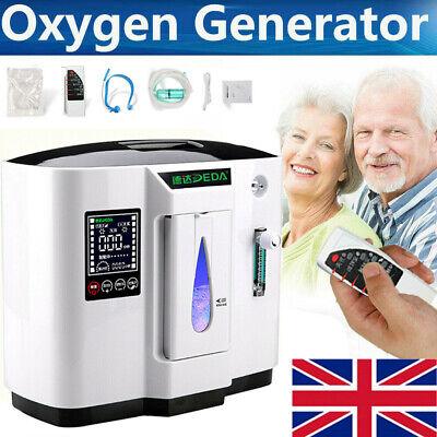 Intelligent 1L-7L Portable Oxygen Concentrator Machine Air Purifier Home 130W UK