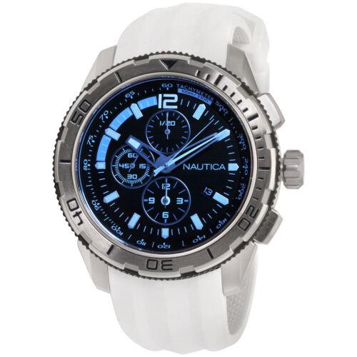 Men's Nautica Chronograph Silicone Strap Watch NAD19521G