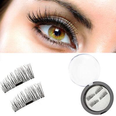 4PCS/ 1 Set Magnetic Eyelashes 3D Reusable False Magnet Eye Lashes Extensions US