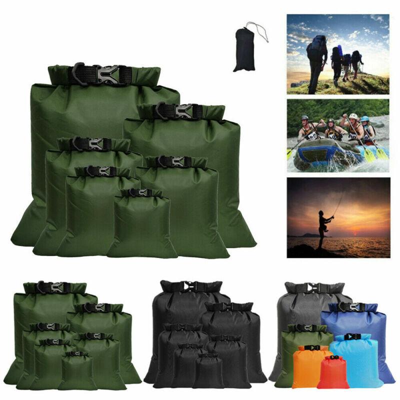 6 Pack Waterproof Dry Sacks Outdoor Ultimate Dry Bags Rafting Boating Camping US