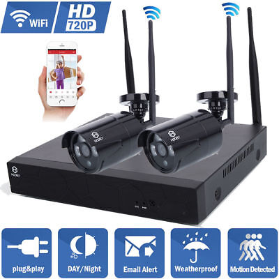 Wireless 4CH 1080P CCTV NVR IR Night Vision WIFI 1MP Camera Home Security System
