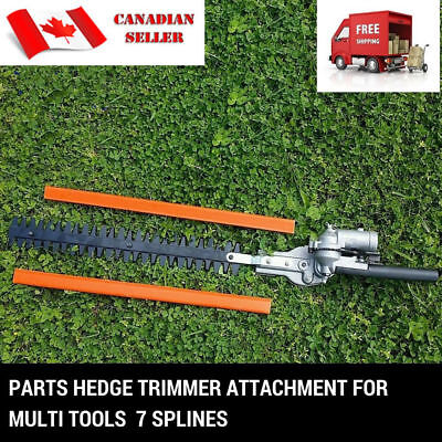- 7 TEETH HEDGE TRIMMER ATTACHMENT POLE LAWN BRUSH CUTTER WHIPPER FOR WEED EATER