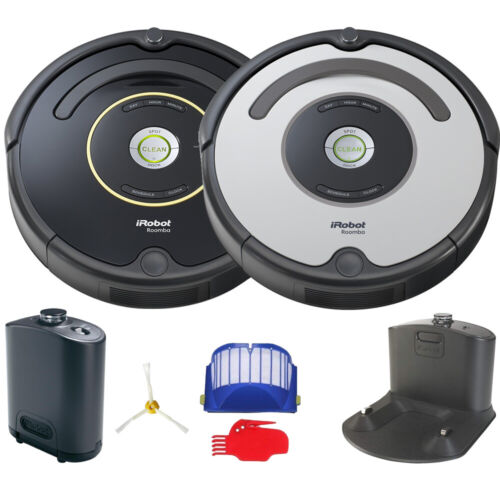 iRobot Roomba 650 or 655 Automatic Robotic Vacuum w/ Dock Black or Silver