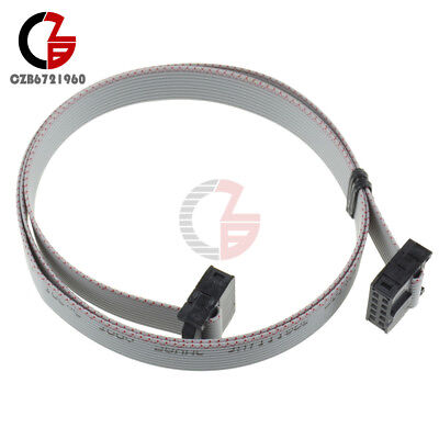 70cm 10 Pin Usb Asp Isp Jtag Avr Wire 10p Idc Flat Ribbon Data Cable 2.54mm