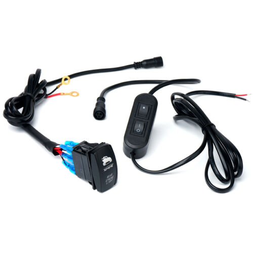 Xprite Wiring Harness with 2 Switches For Rear LED Chase Strobe Light Bars