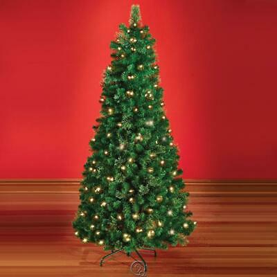 Decoratable Pull Pop Up Artificial Christmas Tree 6 Feet Tall Lifelike Prelit