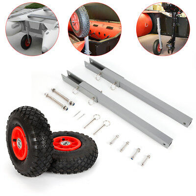 TOP! Boat Transom Launching Wheel Dolly For Inflatable Dinghy Yacht Tender -