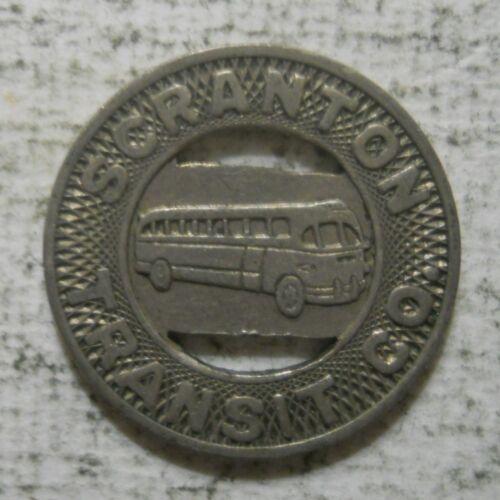 Scranton Transit Company (Pennsylvania) transit token - PA840H