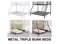 Delivery 7days A Week Brandnew Boxed Triple Sleeper Bunk Bed Frame Mattress Options Call
