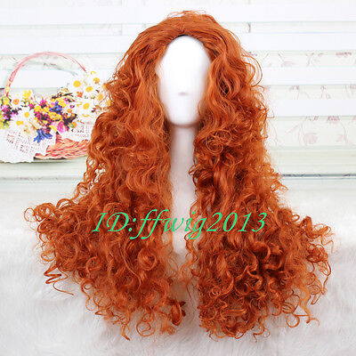 MERIDA Costume Wig BRAVE Movie Disguise Cosplay CC43 +a wig cap (Disguise Wig)