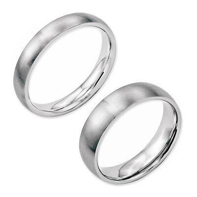 Titanium Band Satin Brushed Finish Comfort Fit Wedding Engagement Ring Size 4-13