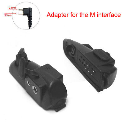 Black Walkie Talkie Adapter 2 Pin For Baofeng 9700 A58 UV9R Motorola GP HT MTX