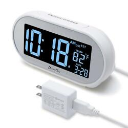DreamSky Auto Time Set Alarm Clock With Snooze And Dimmer Charging Charger 4