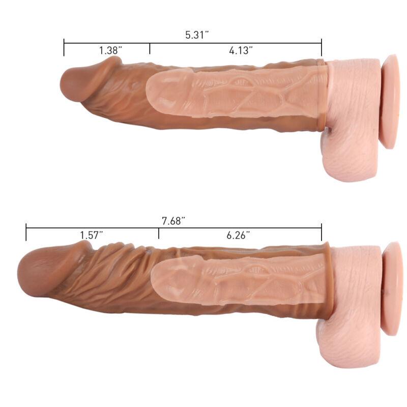 Penis Extender Penis Sheath Enhancer Ball Stretch Sleeve Enlarger