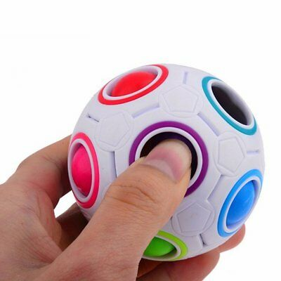 Solve Color Cube -  Yongjun Magic cube Rainball Ball Cube Speed 11 Rainbow Colors to Solve
