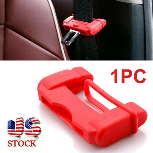 Red Car Seat Belt Buckle Clip Silicone Anti-Scratch Cover Safety Accessories USA Car & Truck Parts