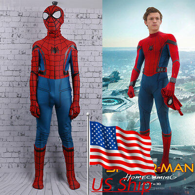 2017 Spider-Man Homecoming Costume Cosplay Spiderman Kids Zentai 3D Costume New (Costume D Halloween 2017)