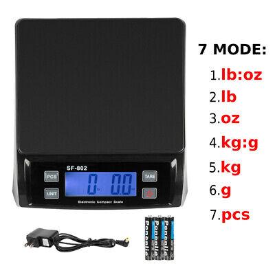 66 Lb X 0.1oz Digital Weigh Packaging Shipping Postal Scale 7 Unit W Ac Adapter
