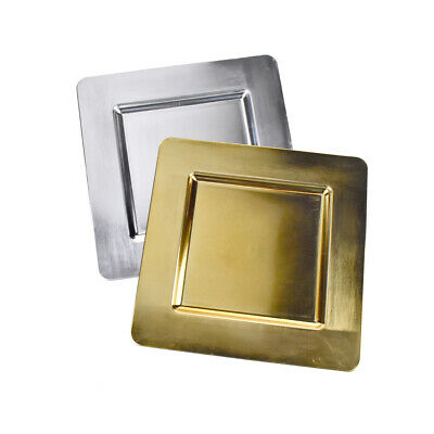 Square Plate Chargers (Plastic Square Charger Plate,)