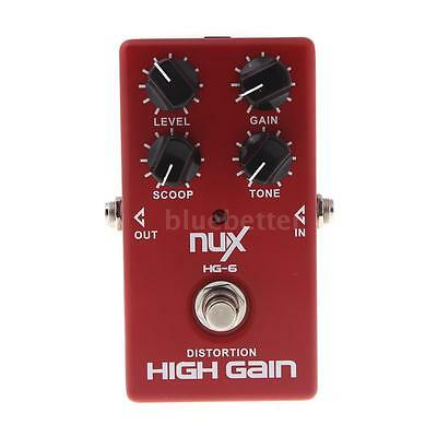 NUX HG-6 New Distortion High Gain Effect Pedal for Electric Guitar U4A9