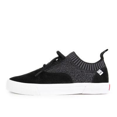 Djinns SubAge Soc Youname Knit Black Schuhe Sneaker Schwarz Weiß