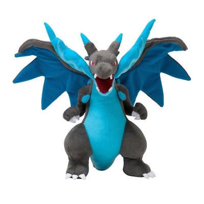 "Pokemon Center Mega Charizard X Character Stuffed Plush 12"" Dragon Doll Toy USA"