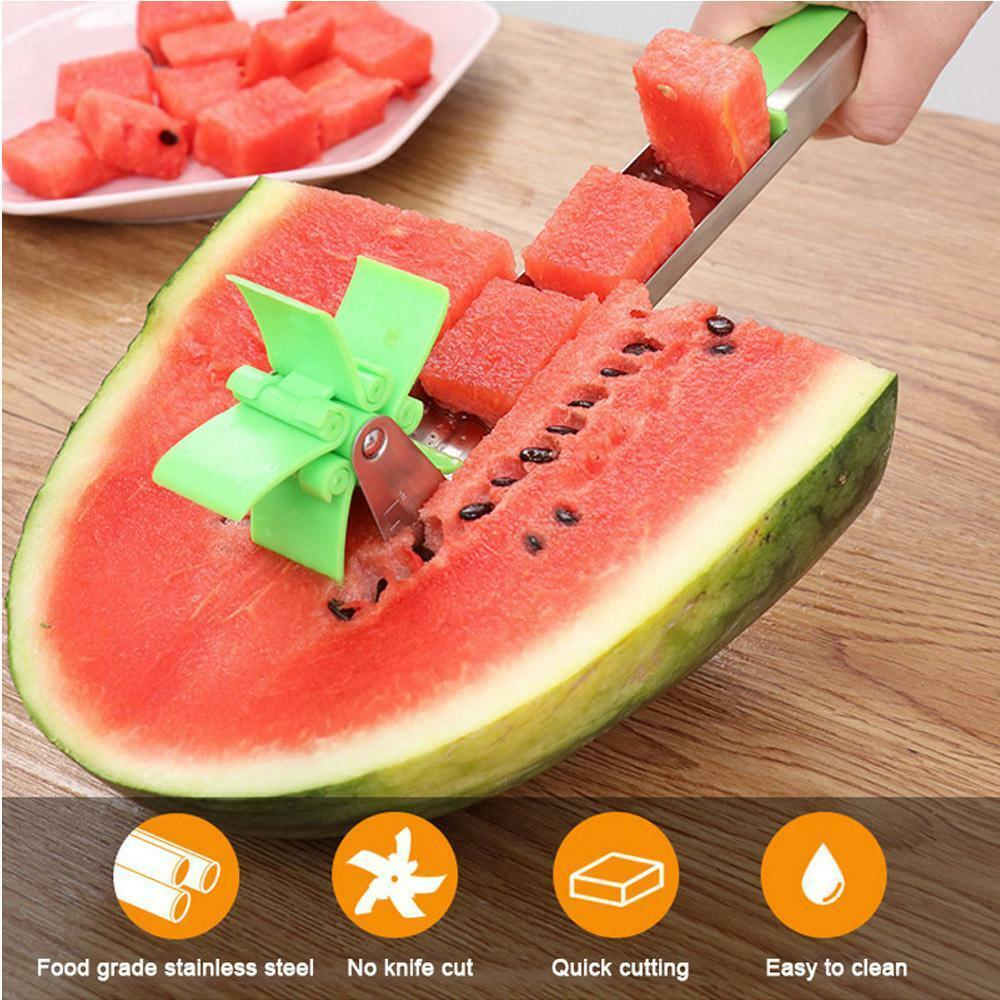 Watermelon Cutter Windmill Shape Plastic Slicer for Cutting Watermelon Cube Tool Home & Garden