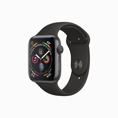 Apple Watch Series 5 40mm Space Grey Aluminium Case with Black Sport Band - S/M