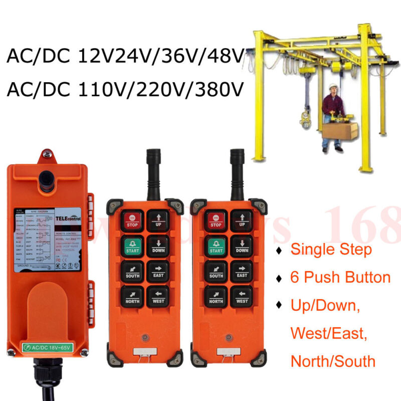 Hoist Crane Radio Industrial Wireless Remote Control Transmitter&Receive F21-E1B