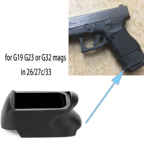 Glock 26 27 33 Magazine Extension Adapter Allows Use of Model 19 23 32 Magazines
