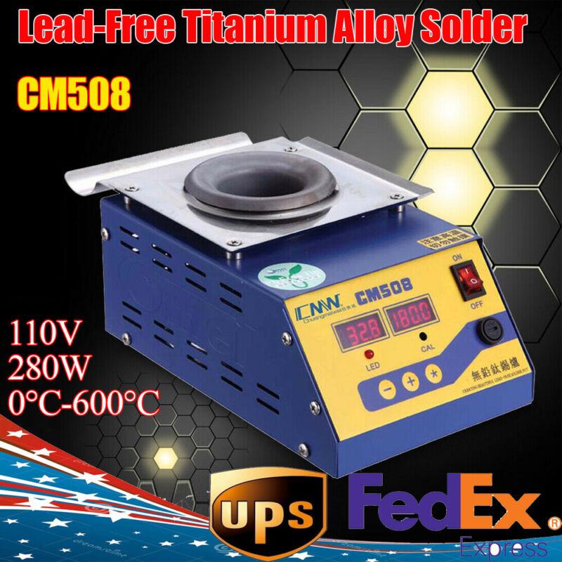 CM508 Solder Pot Bath 280W Lead-Free Titanium Alloy Round Soldering Pot SGS USA