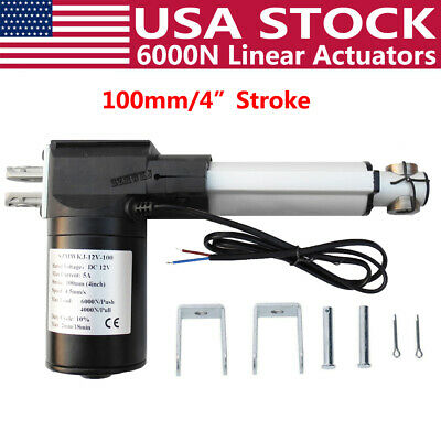 4 6000n Electric Linear Actuator 1320lbs Pound Max Lift Heavy Duty 12v Dc Motor