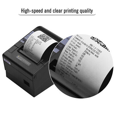 80mm Usb Thermal Receipt Pos Printer Auto Cutter High Speed Clear Printing I3a1