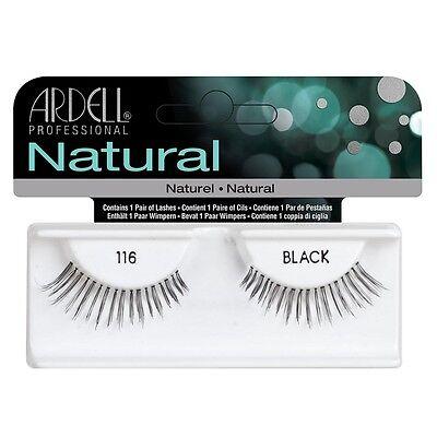 (Ardell Fashion Natural Lashes Strip Lash, Black [116] 1 ea)