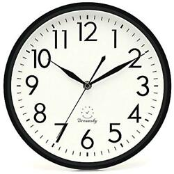 10 Inches Silent Non-Ticking Quartz Wall Clock Decorative Indoor Kitchen Numbers