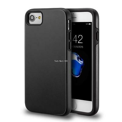 For iPhone 7 8 Case Hybrid Shockproof Hard Heavy Duty Black Dual Silicone Cover