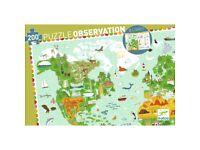 DJECO AGE 6+ 200 PUZZLE OBERVATION tour du monde KIDS PLAY BOY/GIRL FUN GIFT