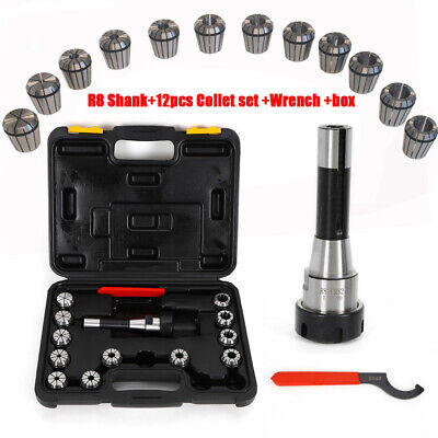 12pcs Er32 Collet Set R8 Shank Wrench Box For Milling Drilling Operation