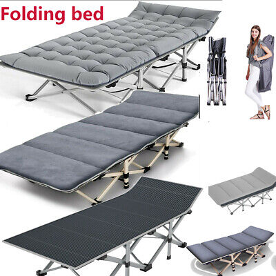 Folding Camping Bed Military 2-Layer Oxford Heavy Duty Sleeping Cot W/Carry Bag