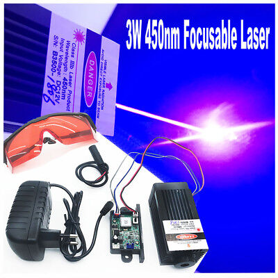 Focusable Engraving 450nm 3w Blue Buner Laser Modulettllaser Cut With Goggles