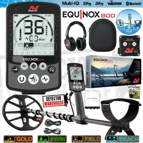 Minelab Equinox 800 WATERPROOF Metal Detector Multi-Frequency, Gold, Wireless