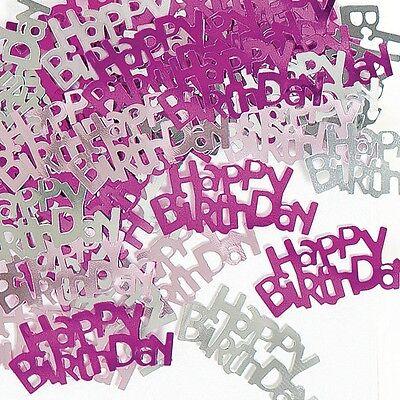 Pink & Silver Sparkle Happy Birthday Confetti Foil Sprinkles
