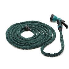 Deluxe 25 50 75 100 Feet  Expandable Flexible Garden Water Hose + Spray Nozzle