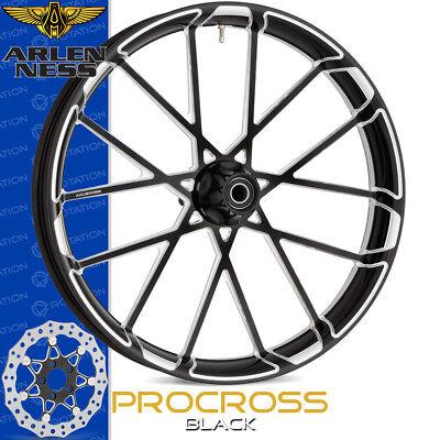 Arlen Ness Procross Black Custom Motorcycle Full Wheel Package Harley Baggers