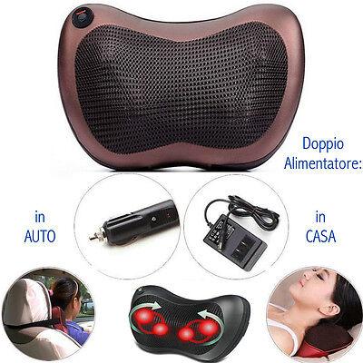 Cuscino massaggiante massaggiatore casa e auto massaggio shiatsu schiena collo