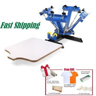 4 Color 1 Station T-shirt Silk Screen Printing Machine Printing Press Equipment