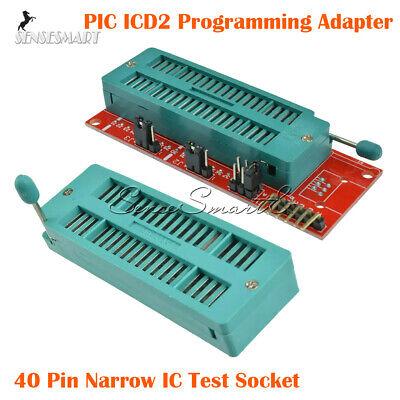 Pic Icd2 Pic Kit 2 Pickit 3 Programming Adapter Programmer 40pin Test Seat Board