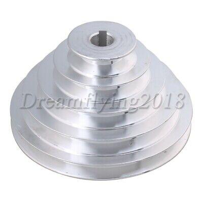 Aluminum Hole Dia 18mm V-type Five Step Belt Pulley For Motor Shaft Drive